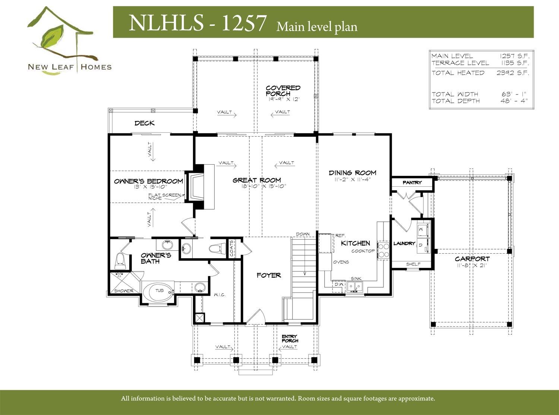 Carport floor plans 100 carport floor plans storybook for Ron lee homes floor plans